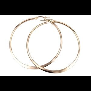 Jewelry - 70MM  Stainless Steel Basketball Wives Hoops
